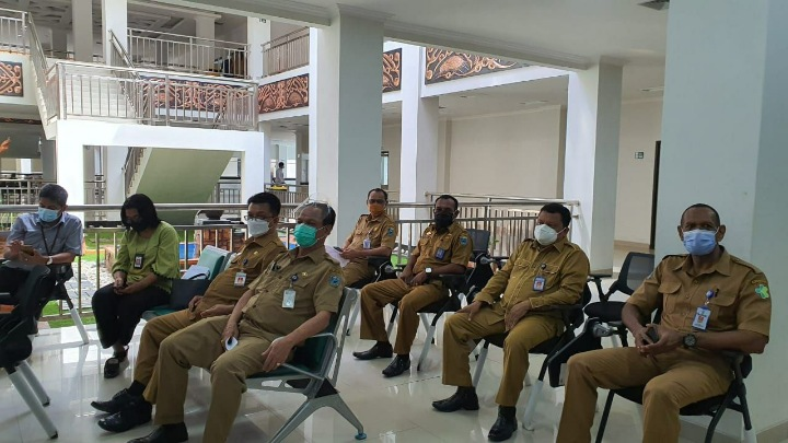 Para Pimpinan OPD Papua Barat Vaksinasi Covid-19 Dosis Pertama