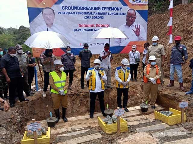 Proyek Pengendalian Banjir Sungai Remu Sorong Mulai Dikerjakan