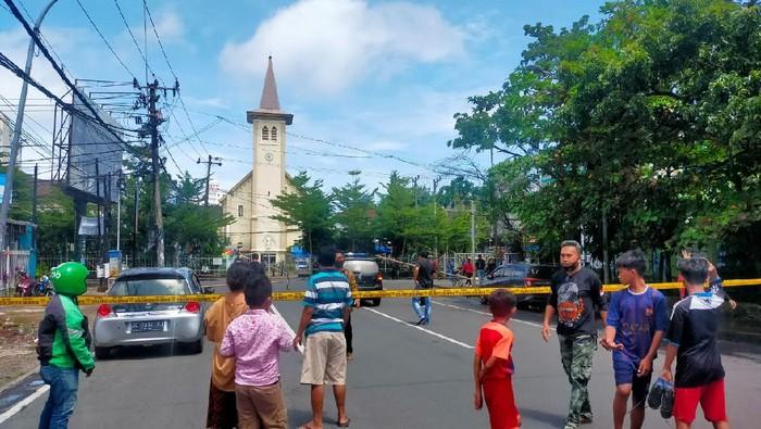 Ledakan di Dekat Katedral Makassar, Minggu Palem Manokwari Aman
