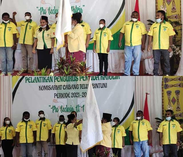 Yustina Ogoney Dilantik Jadi Ketua Pemuda Katolik Teluk Bintuni