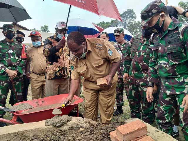 Realisasi TMMD 110 di Kabupaten Sorong Sudah 47 Persen