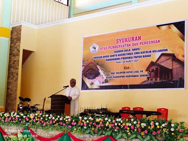 Keuskupan Manokwari Sorong Sumbang 100 Juta, Proficiat Bupati Manokwari