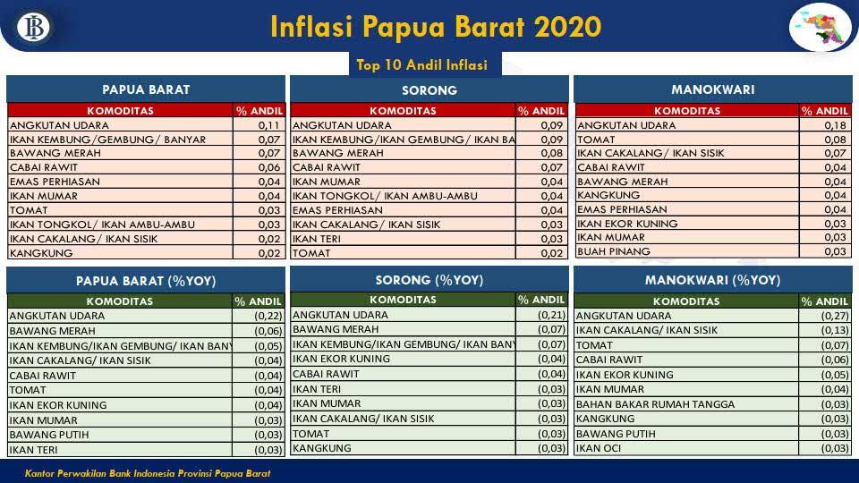 Trasportasi Udara Andil Inflasi Tertinggi Papua Barat di 2020