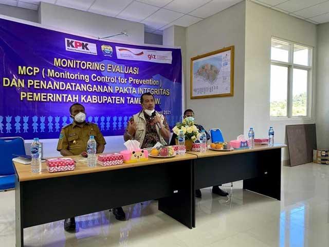 Skor MCP KPK Tambrauw Terendah Kedua di Papua Barat