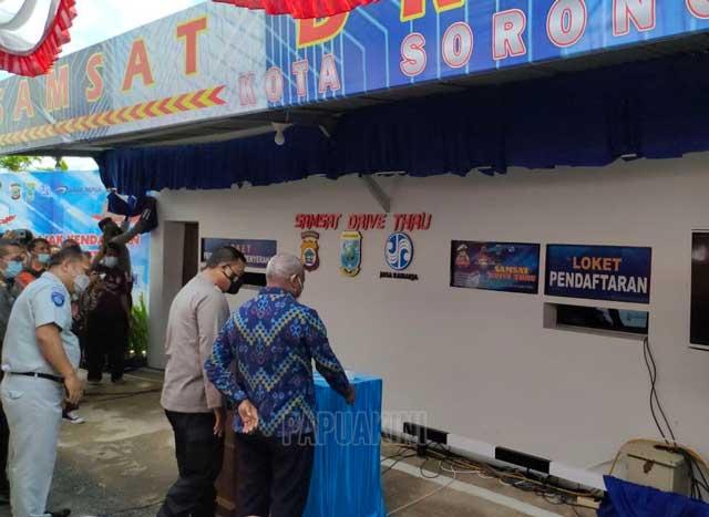 Samsat Drive Thru Kota Sorong dan Kabupaten Sorong Mulai Operasi