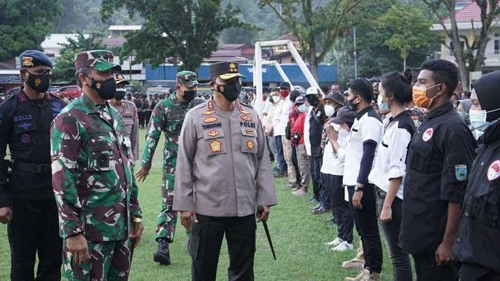 Polda - Kodam Apel Gabungan Pengamanan Paskah Papua Barat
