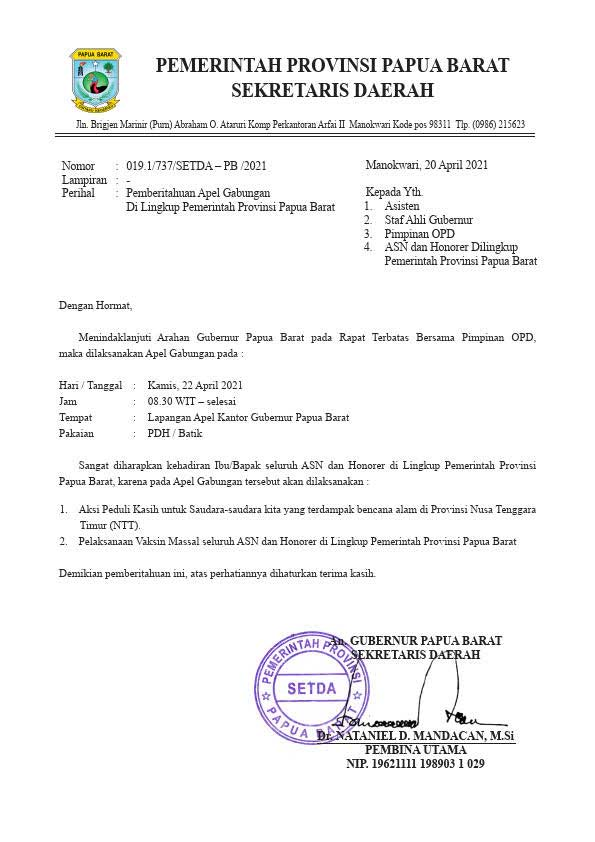 Pengumpulan Bantuan Pemprov Papua Barat Untuk Korban NTT Dipercepat ke Kamis