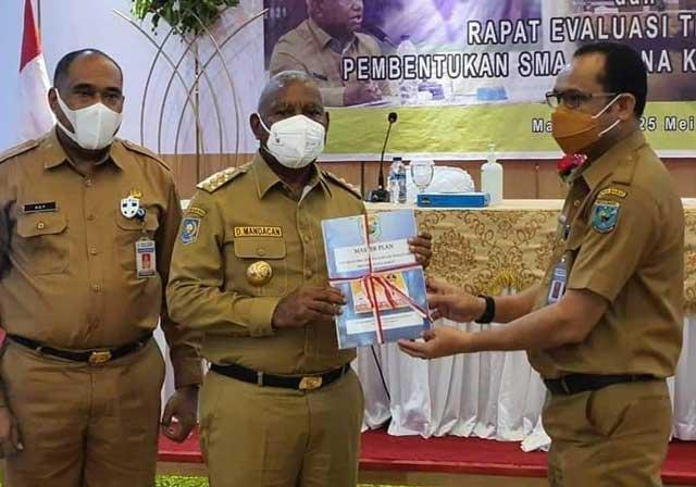 Gubernur Papua Barat Terima Rencana Induk SMA Taruna Kasuari Nusantara