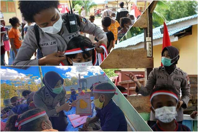 Satgas Arfak Mansinam Edukasi Anak-anak Bintuni