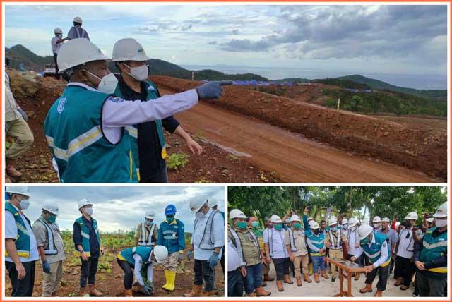 Gubernur Papua Barat, Dominggus Mandacan, dalam kunjungan ke lokasi PT Gag Nikel di Pulau Gag, Kabupaten Raja Ampat, 23 Juni 2021. (Foto: ist/BAP PB)