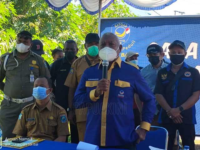 Warga Padati Vaksinasi Covid-19 Nasdem Papua Barat Peduli