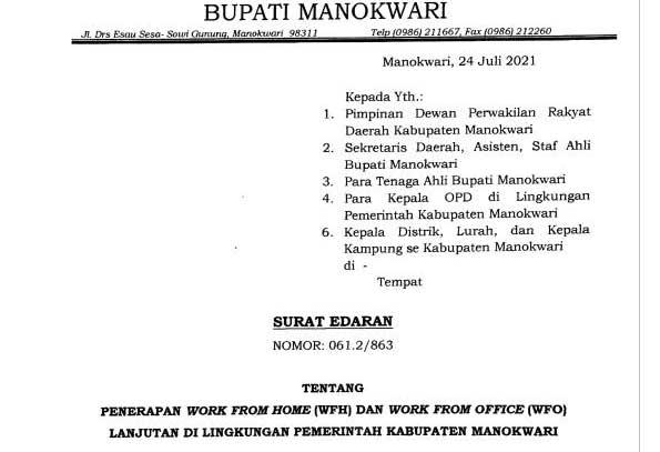 RSUD dan Pol PP Manokwari Ngantor Penuh
