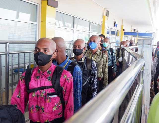 370 Calon Bintara Otsus Papua Barat Terbang ke SPN Polda Jateng