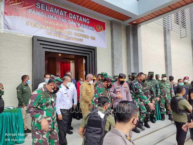 Kapolri Dorong Papua Barat Percepatan Vaksinasi Massal Covid 19