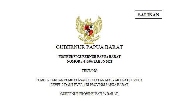 Manokwari, Fakfak, Kaimana, Kota Sorong PPKM Level 2, Perpanjang Sampai 4 Oktober