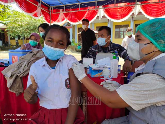 Kepala SMPN 1 Manokwari Terima Kasih Ortu Dukung Vaksinasi Siswa