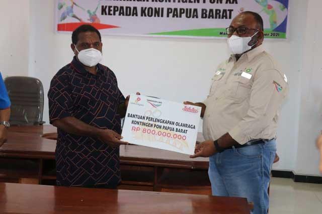 bp Bantu Kontingen PON Papua Barat ke PON Papua