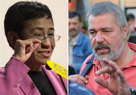 Dua Wartawan Raih Hadiah Nobel Perdamaian 2021