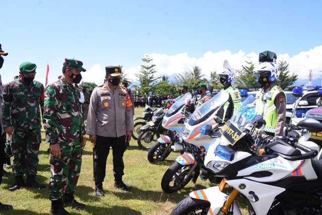 Pangdam XVIII/Kasuari dan Kapolda Papua Barat Pimpin Apel Pengamanan Kunjungan Wapres