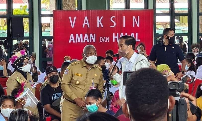 Presiden Apresiasi Antusiasme Masyarakat Papua Barat Vaksinasi Covid-19